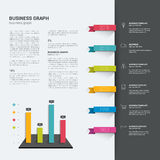 Booklet page. Magazine layout for infographics. Stock Images