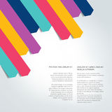 Booklet page. Magazine layout for infographics. Stock Photography