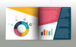 Booklet page. Magazine layout for infographics. Royalty Free Stock Images
