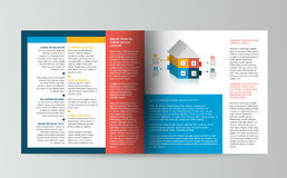 Booklet page. Magazine layout for infographics. Stock Photos
