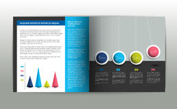 Booklet page. Magazine layout for infographics. Web template. Stock Images