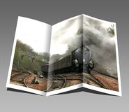 Booklet, Pamphlet, Train, Engine royalty free stock photo
