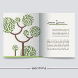 Booklet with a picture of a green tree Royalty Free Stock Image