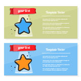 Booklet vector, flyer set with image of a star. Template award, certificate, prize or postcard. Flyer with image of a star. Template award, certificate, prize Stock Photos