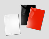Booklets mockup template Stock Photos