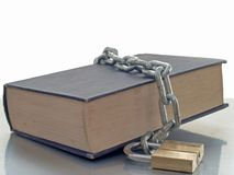 Booklock. Book with chain and lock Stock Images