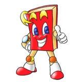 Bookman rojo en la acción Foto de archivo