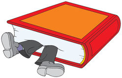 Bookmark. The bookkeeper is lying between the pages of the book Vector illustration / clip-art royalty free illustration