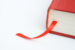Bookmark. A bookmark in a book helps to find the correct page Royalty Free Stock Photo