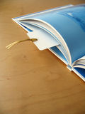 Bookmark. An open book with bookmark stock photography