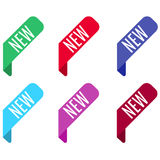 Bookmark banners set. New, tags. Royalty Free Stock Images