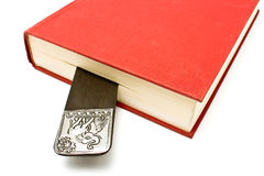 Bookmark in a book Stock Photos