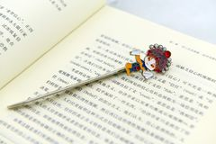 Bookmark on a book Stock Photography
