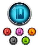 Bookmark button icon Royalty Free Stock Images