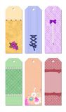 Bookmark Designs. Cute and lovely creative bookmark designs stock illustration