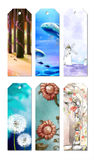 Bookmark Designs. Cute and lovely creative bookmark designs Stock Photo