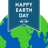 Banner for Happy Earth Day. Vector illustration. Bookmark for Happy Earth Day. Vector illustration. Festive Poster Or Banner on 22 april. Ecology concept Royalty Free Stock Images