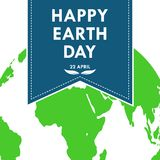 Banner for Happy Earth Day. Vector illustration. Bookmark for Happy Earth Day. Vector illustration. Festive Poster Or Banner on 22 april. Ecology concept Stock Photo