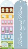 Bookmark - Haus lizenzfreie abbildung