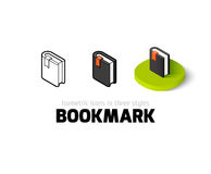 Bookmark icon in different style Stock Image