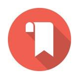 Bookmark icon. Bookmark Glyphs Shadow Icon stock illustration