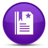 Bookmark icon special purple round button Stock Photography