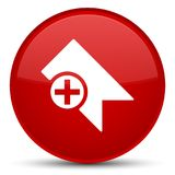 Bookmark icon special red round button Royalty Free Stock Photo