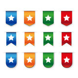 Bookmark icon set vector Royalty Free Stock Photos