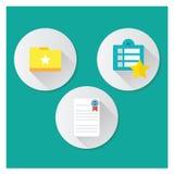 Bookmark Icon Style 3. Bookmark icon in flat style Stock Photos