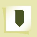 Bookmark ikona Fotografia Stock