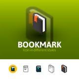 Bookmark ikona w różnym stylu Obrazy Stock