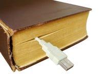 Bookmark im Buch Stockbild