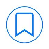 Bookmark kurendy linii ikona Round kolorowy znak Mieszkanie stylowy wektorowy symbol Obrazy Stock