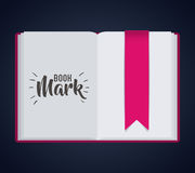 Bookmark label tag and book design. Bookmark label tag and book icon. Guidebook decoration reading and literature  theme. Colorful design. Vector illustration Royalty Free Stock Photo