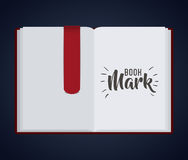 Bookmark label tag and book design. Bookmark label tag and book icon. Guidebook decoration reading and literature  theme. Colorful design. Vector illustration Royalty Free Stock Image