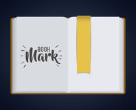 Bookmark label tag and book design. Bookmark label tag and book icon. Guidebook decoration reading and literature  theme. Colorful design. Vector illustration Royalty Free Stock Images