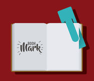 Bookmark label tag and book design. Bookmark label tag and book icon. Guidebook decoration reading and literature  theme. Colorful design. Vector illustration Royalty Free Stock Photography