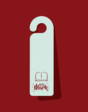 Bookmark label tag design. Bookmark label tag with book icon. Guidebook decoration reading and literature  theme. Colorful design. Vector illustration Royalty Free Stock Images