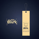 Bookmark label tag design. Bookmark label tag with book icon. Guidebook decoration reading and literature  theme. Colorful design. Vector illustration Stock Photo