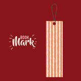 Bookmark label tag design. Bookmark label tag with branches icon. Guidebook decoration reading and literature  theme. Colorful design. Vector illustration Stock Image