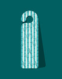 Bookmark label tag design. Bookmark label tag with branches icon. Guidebook decoration reading and literature  theme. Colorful design. Vector illustration Royalty Free Stock Photos