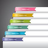 Bookmark Labels Ribbon. Bookmark labels, stickers or indicators on the edge of a page Royalty Free Stock Image