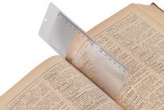 bookmark magnifier Obraz Royalty Free