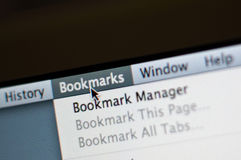 Bookmark menu Royalty Free Stock Photos