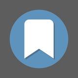 Bookmark mieszkania ikona Round kolorowy guzik, kółkowy wektoru znak z cienia skutkiem Mieszkanie stylu projekt Fotografia Royalty Free