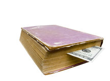 Bookmark from money Royalty Free Stock Images
