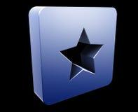 Bookmark navigation icon Stock Photography