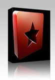Bookmark navigation icon box package Royalty Free Stock Image
