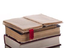 Bookmark in old book Royalty Free Stock Photos