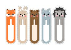 Free Bookmark Paper Sticker Collection In Flat Design Royalty Free Stock Photography - 158545797